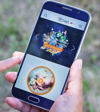 Nouveau site du Groupe Techna sur mobile smartphone